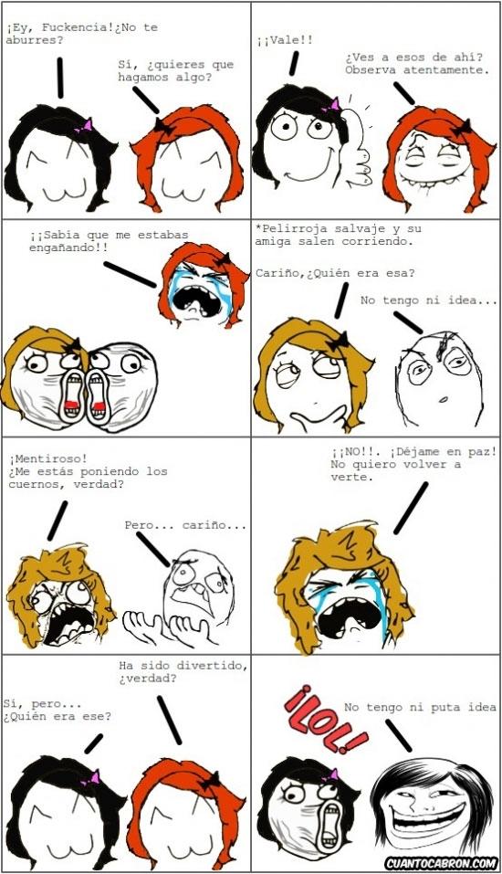 Trollface - Cuidado si tienes cerca un par de chicas troll aburridas