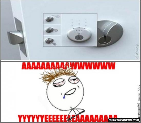 Aww_yea - Ésta es la cerradura de mi casa, no hay fallo posible