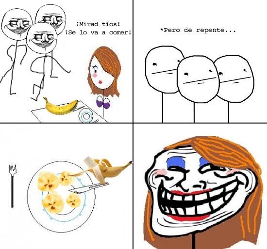 Trollface - Un plátano nunca fue tan sexy