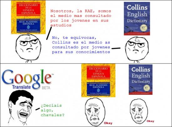 collins,competicion imposible,google traductor,okay,rae,yao ming
