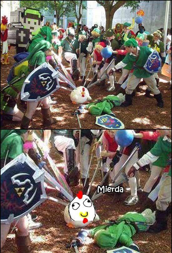 Retarded - Tarde o temprano, la venganza de Link contra las gallinas tenía que llegar
