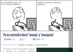 Enlace a Wasap y la destrucción de la lengua castellana