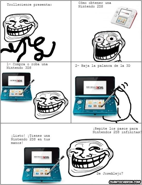 Trollface - Trollscience y Nintendo #chistaco