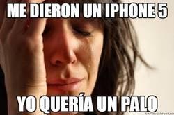 Enlace a Me dieron un iphone 5