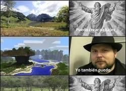 Enlace a Dios vs Minecraft