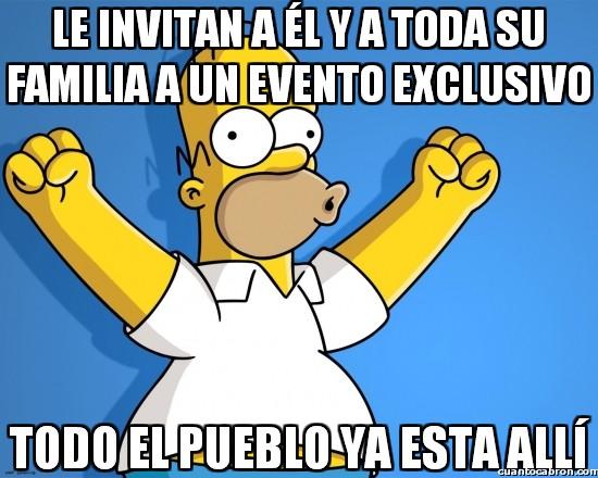 Meme_otros - El pueblo de Springfield siempre va dónde vaya Homer
