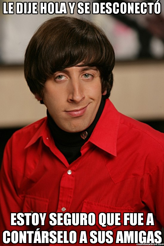 amigas,amor,facebook,howard wolowitz,nervios,red social,the big bang theory,tuenti