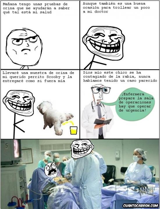 Trollface - Nunca intentes trollear a tu doctor, llevas las de perder