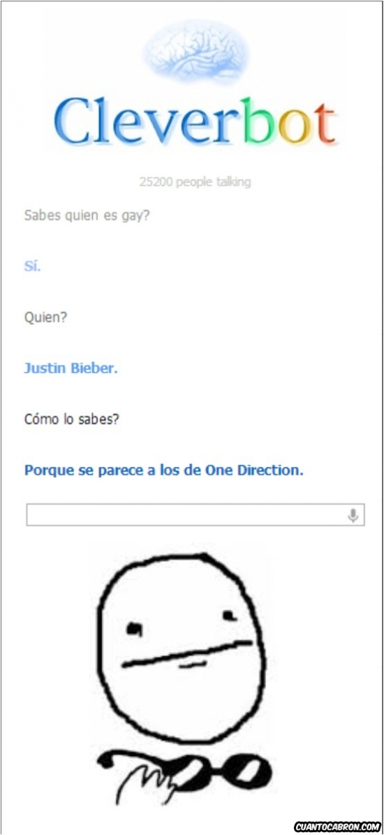 Cleverbot,Justin Bieber,One Direction