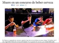 Enlace a Hombre muere en concurso de beber cerveza