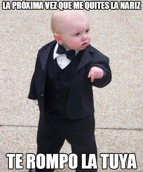Bebe_mafioso - Se ha puesto un poco chungo el bebé