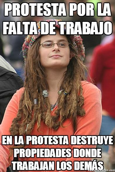 Filosofia_perroflauta - Protestas que se vuelven incoherentes