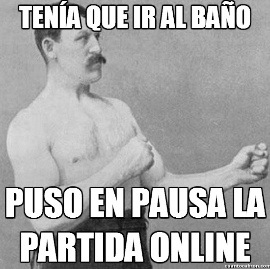 baño,esperar,online,partida,pausa