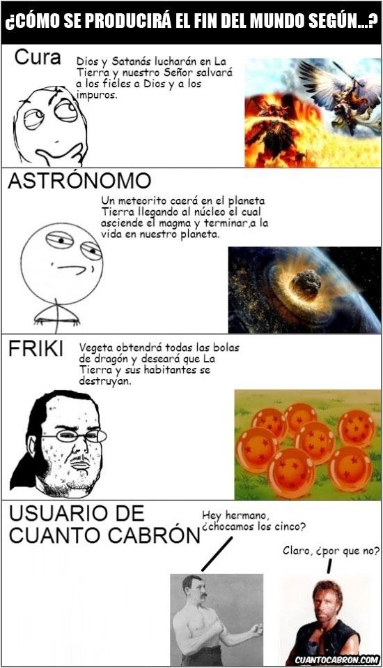 astronomo,chuck norris,cura,fin,friki,mundo,overly manly man,usuario