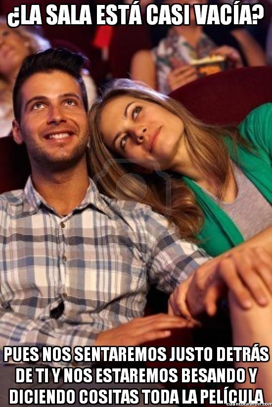Meme_otros - Estúpidas parejitas cuando vas al cine...