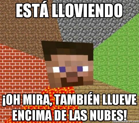 Minecraft - Lluvia en Minecraft