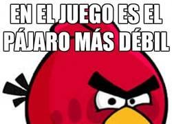 Enlace a El poder variable del pájaro rojo del Angry Birds