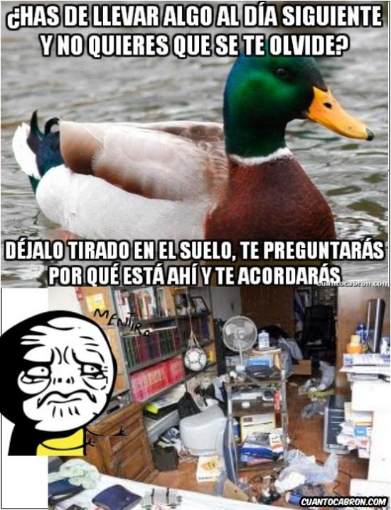 Mentira - El Pato Consejero no Siempre es fiable...