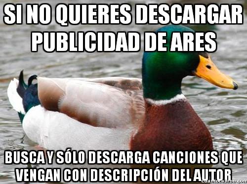 Pato_consejero - Método para evitar publicidad en el Ares