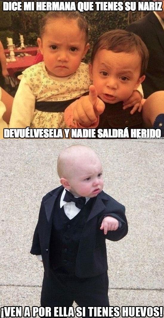 Bebe_mafioso - Duelo de bebés mafiosos inminente