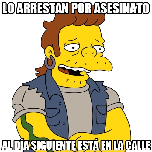 Meme_otros - La justicia en Springfield funciona más o menos igual que en España