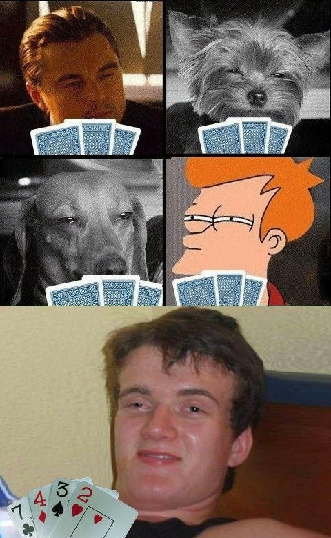 cartas,fry,jugar,perro,poker,stanley