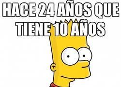 Enlace a Bart Simpson y su secreto de la eterna juventud