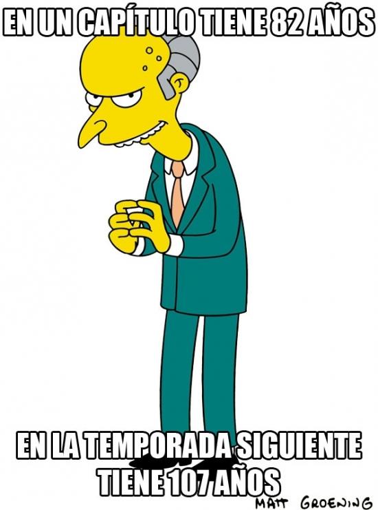 Meme_otros - Seguimos con las incoherencias de la edad en Los Simpson