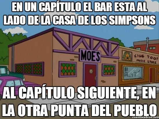 Meme_otros - La posición de la taberna de Moe es fluctuante