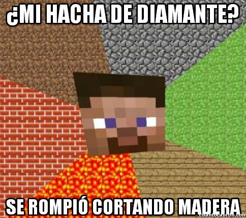 Minecraft - ¿Mi hacha de diamante?