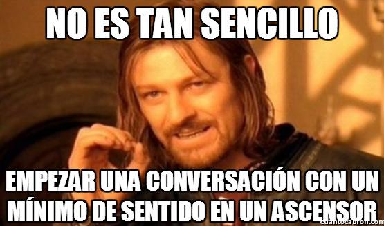 Boromir - Conversaciones de ascensor