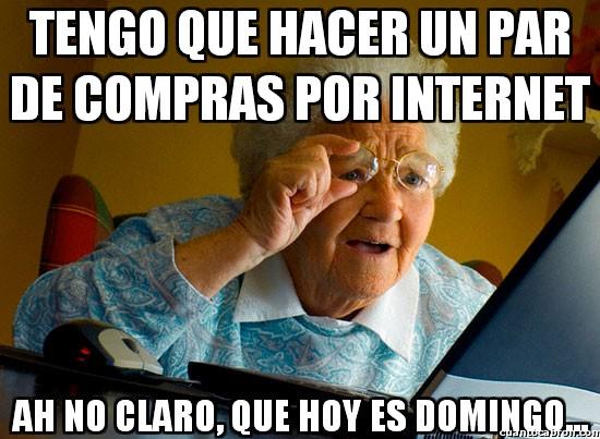 Abuela_sorprendida_internet - Compras en Internet los fines de semana