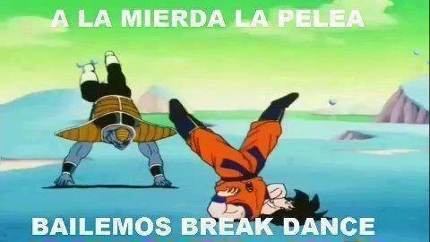 bailar,breakdance,burter,dragon ball z,goku