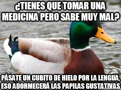 Pato_consejero - El truco para las medicinas de horrible sabor