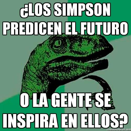 Philosoraptor - Los pitonisos Simpson