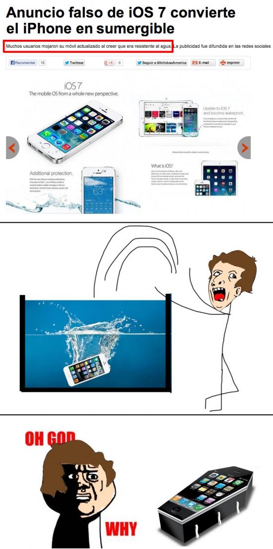 Oh_god_why - Con iOS7 el iPhone se vuelve sumergible