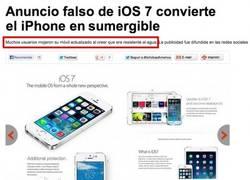 Enlace a Con iOS7 el iPhone se vuelve sumergible