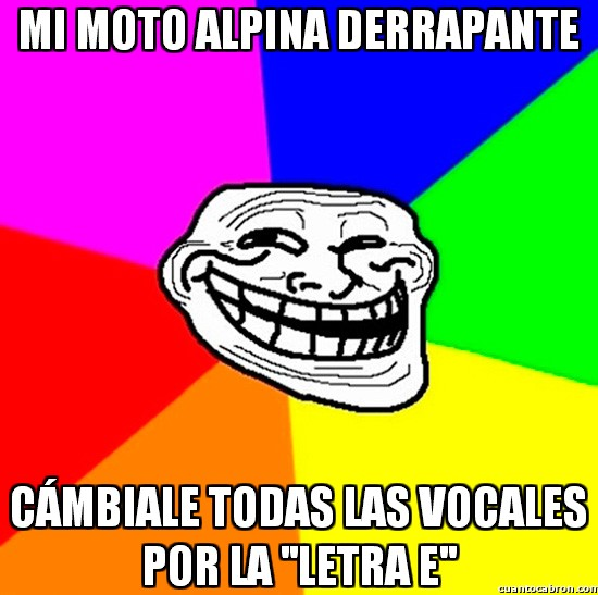 Meme_trollface - Cambiar vocales