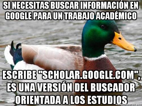 Pato_consejero - El Google académico