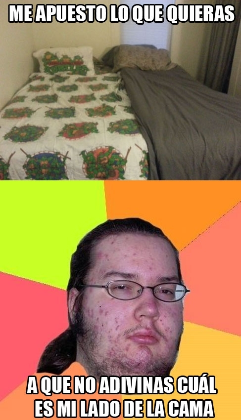 Gordo_granudo - Una cama un poco extraña