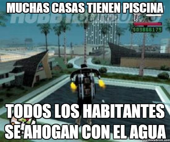 Meme_otros - Incoherencias acuáticas en el GTA San Andreas