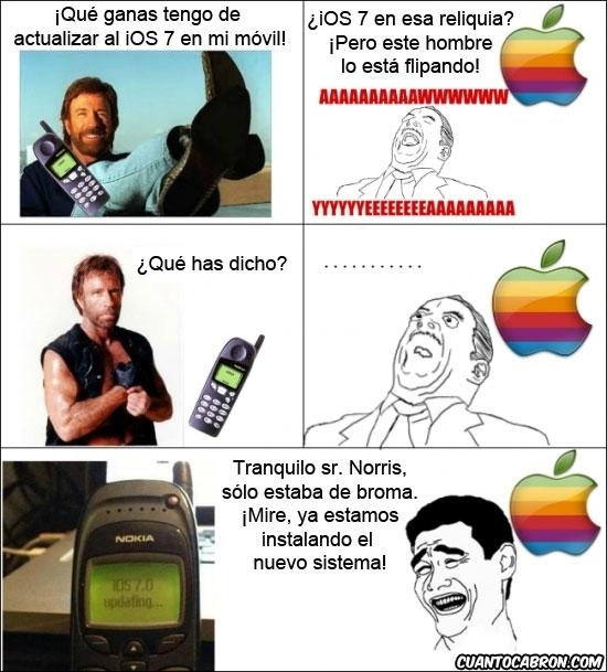 apple,chuck norris,ios7,iphone,móvil,sistema operativo