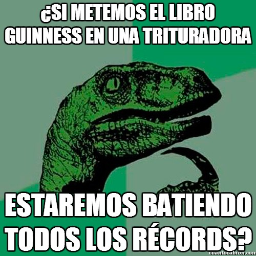 Philosoraptor - ¡A batir récords!