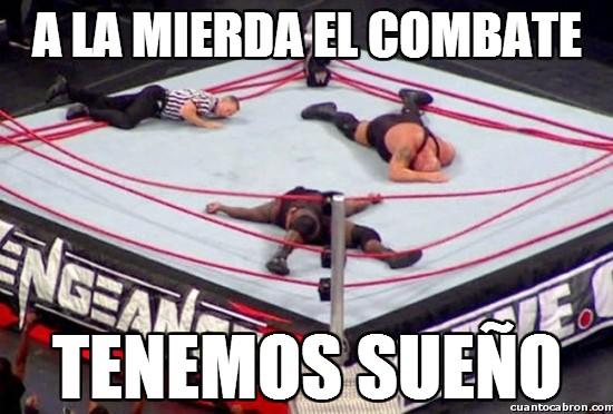 combate,dormir,ring,tenemos sueño,wrestling,wwe