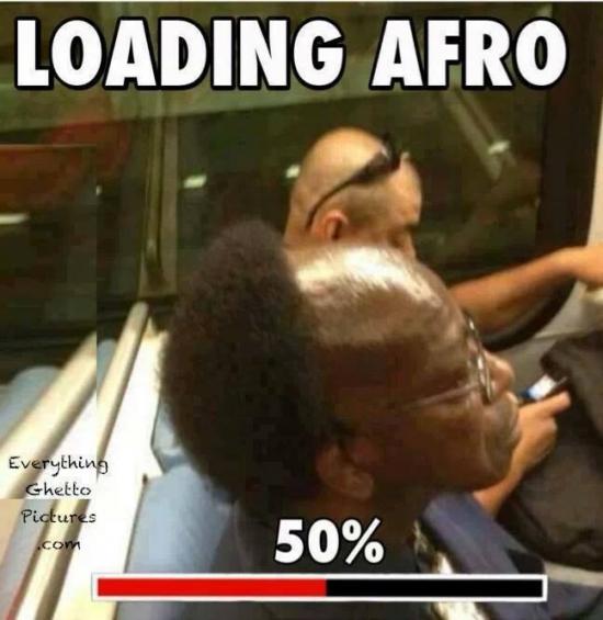 Meme_otros - El afro con un módem de 56K
