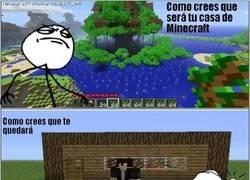 Enlace a Expectativa y triste realidad con las casas del Minecraft