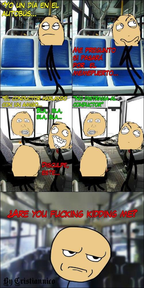 autobus,charlar,chico,conductor,hablar,no distraer,parada