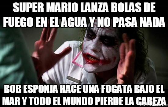 Joker - No se puede comparar a Super Mario con Bob Esponja