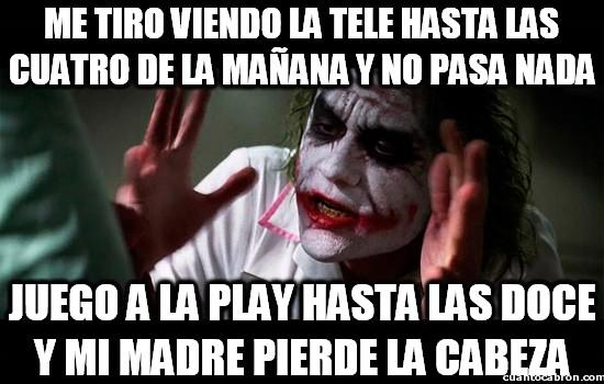 doble rasero,jugar,madre,play,playstation,tele,television,ver