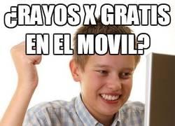 Enlace a ¿Rayos X gratis en el móvil?